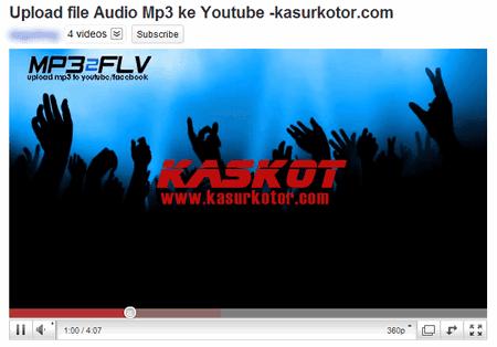 Upload Mp3 ke Youtube 2