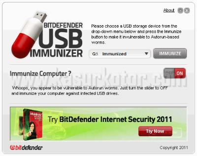 BitDefender USB Immunizer Melindungi Flashdisk dan Komputer dari Virus Autorun
