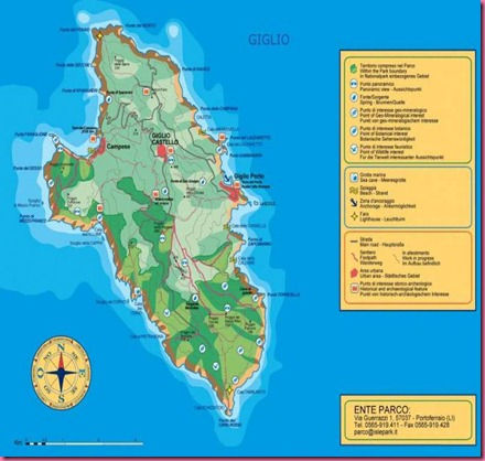 L'Isola del Giglio - Italia  la Cartina Geografica