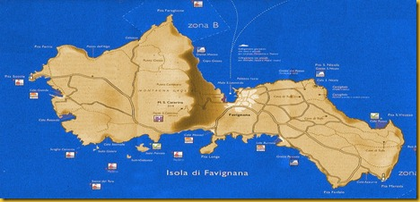 Cartina Isola di Favignana