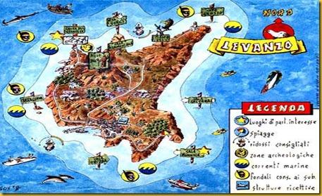 Cartina Isola Di Levanzo - Sicilia