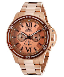 Invicta Men's Specialty Chronograph Rose Gold Dial 18K Rose Gold Stainless Steel