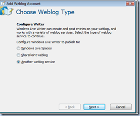 mendaftarkan blog di windows live writer