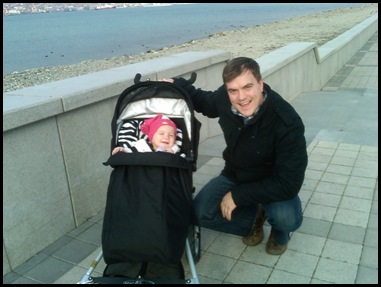 Nick and Isla on the Promenade