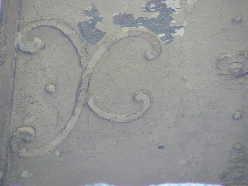Castelul Banffy - Ornament pe tavanul unei camere de la etaj