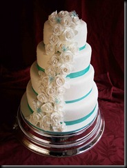 4-tier-Rose-cascade-wedding-cake