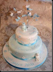 2-tier-Blue-Christening-Cake