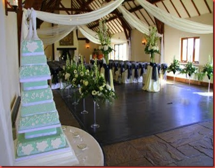 flower design great hall mains cake