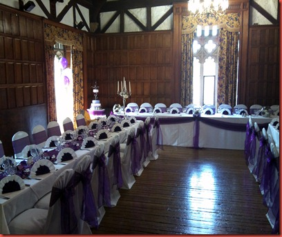 Whalley Abbey purple cake