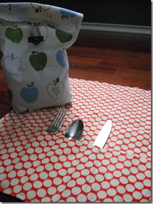Lunch Bag, Silverware Pouch