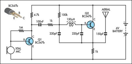 simple am transmitter circuit schematic
