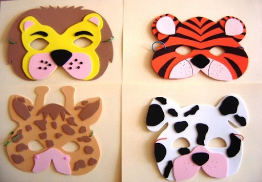 Como hacer una mascara de leon en foami - Imagui