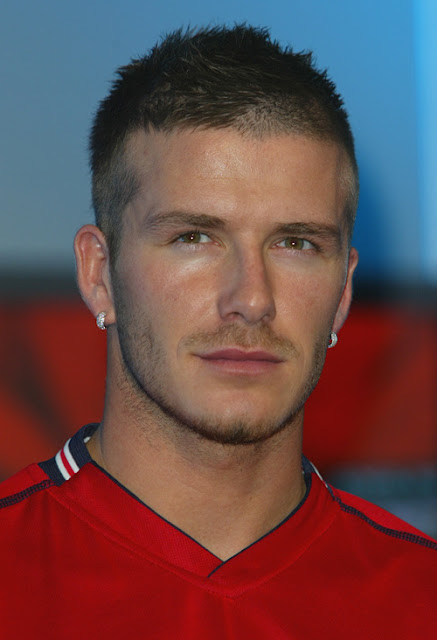 David Beckham launching the 2002 England football team away kit, Heathrow, London. Headshot. Ї͡