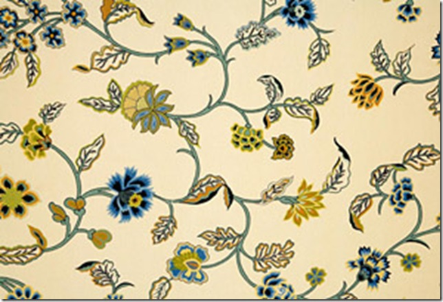 Indian Summer Blue Cotton Fabric