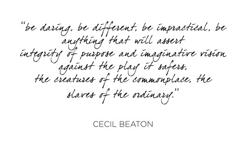 quote cecil beaton