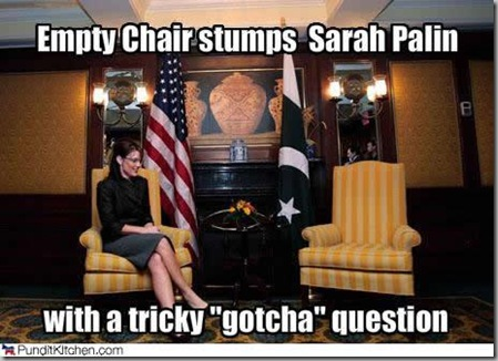 Palin empty chair