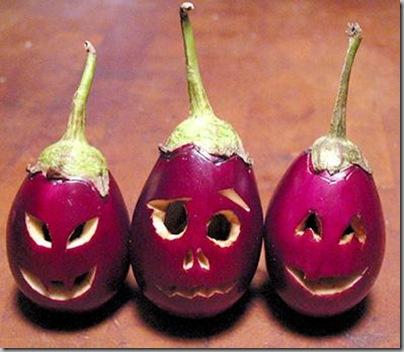 Eggplant-o-lanterns