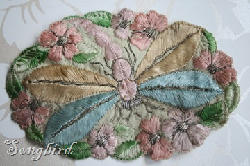Vintage embroidery motive