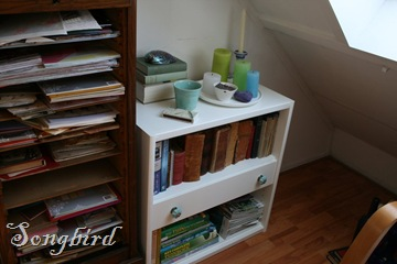 Bookcase on landing