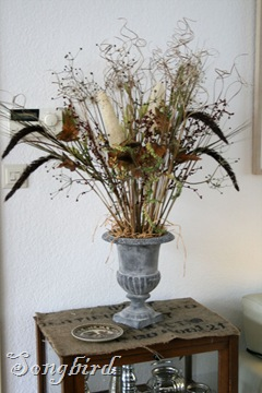 Fall grassy urn