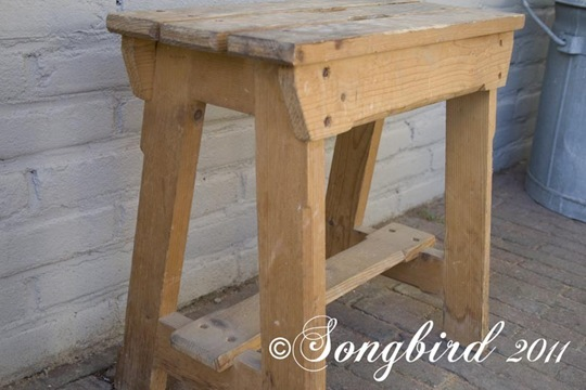 Sawhorse chair before
