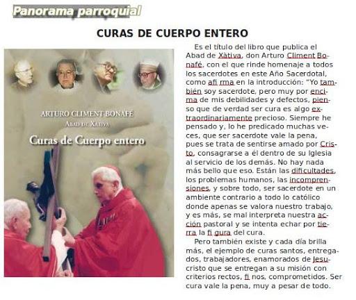 Curas de cuerpo entero. D.Arturo Climent Bonafé. Abad de la Colegiata Basílica de Sta.María de Xàtiva