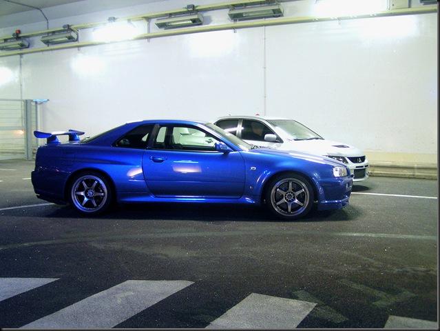 R35 GTR Skyline + EVO IX MR2