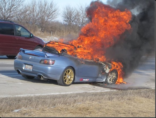 Jdm Cars For Sale >> S2000 burning in flames | JDM RACING BLOG