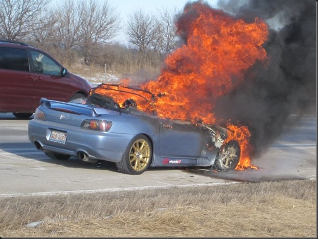 S2000 in flames
