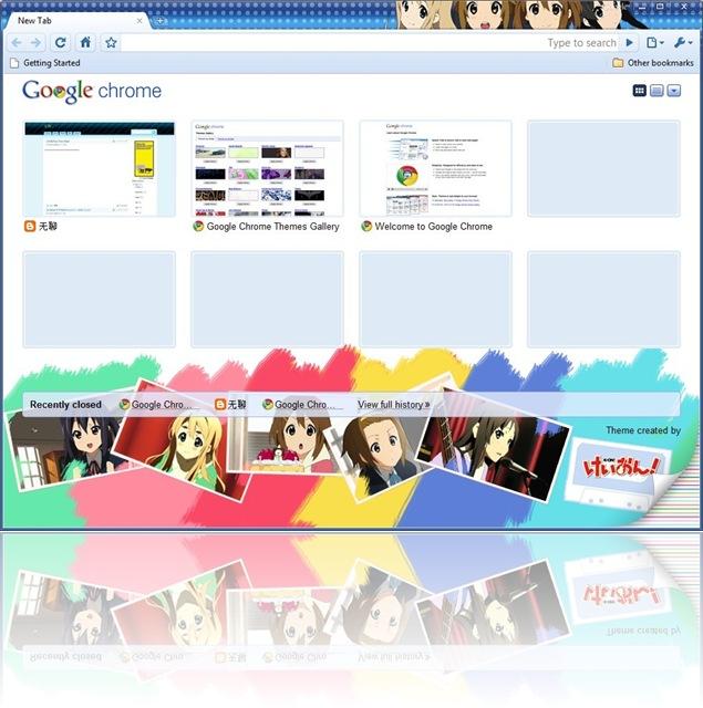 Google Chrome's K-On Theme