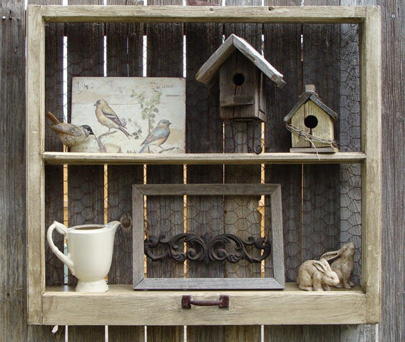 Tracy 39 s trinkets and treasures outdoor decorating for Outdoor window frame decor