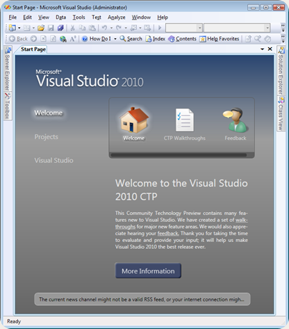 VS2010StartPage