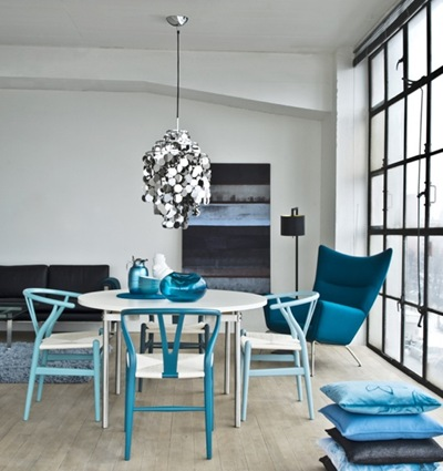 Apartment therapy, Blå, petrolblå och turkos inredning