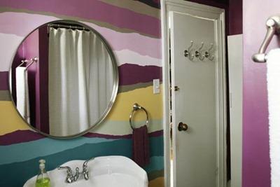 Färgglatt badrum