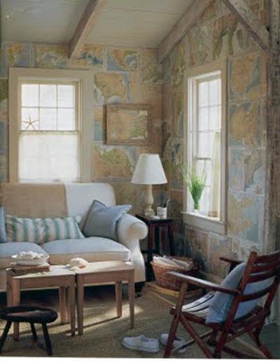 Dekorera med kartor, Martha Stewart Living