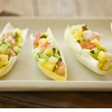 Pineapple Shrimp in Endive Leaves