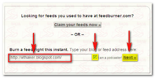 FeedBurner, FeedCount, Subscriber Management, RSS, القائمة البريدية,