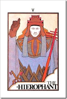 Aquarian Tarot  Major-Hierophant