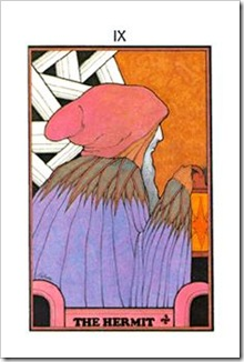 Aquarian Tarot  Major-Hermit