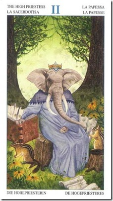 02-Major-Priestess Animal Lords TAROT