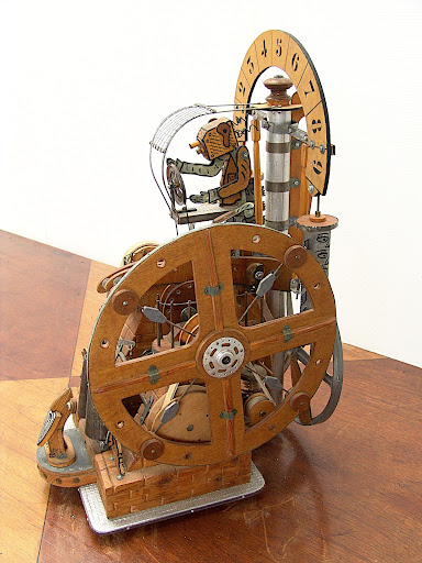 AUTOMATES..Francois MONCHATRE - Dessinateur, peintre, sculteur dans MECHANICAL SCULPTURES