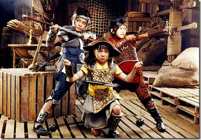 Panday Kids CAst - Hadji (Julian Trono), Charlie (Sabrina Man), and Oliver (Buboy Villar)