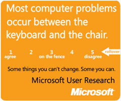 PEBKAC - Even MSFT is in on it