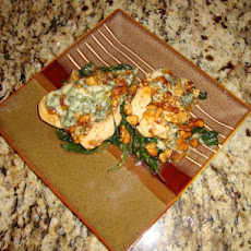 Chicken Scallops With Spinach And Blue Cheese