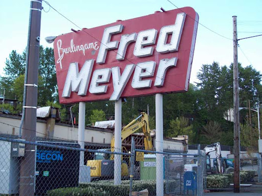 vintage Fred Meyer sign