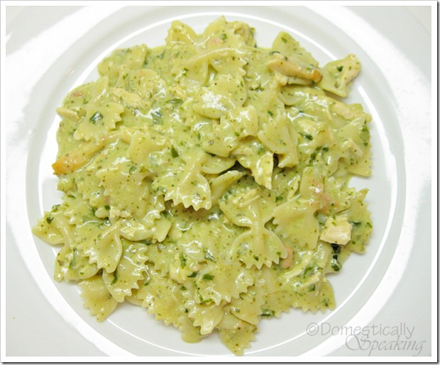 Creamy Pesto Chicken Pasta… - Domestically Speaking
