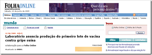 h1n1 e vacina