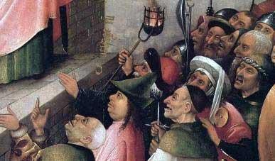 Фрагмент картини Ієроніма Босха ''Ecce Homo'' (''Ось Чоловік'')