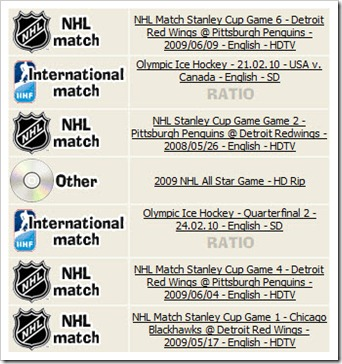 NHLTorrents Index