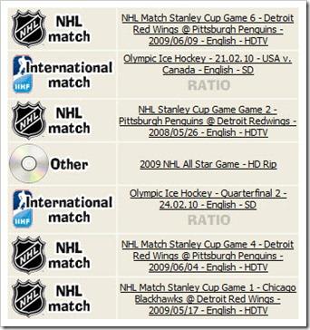 NHLTorrents Index